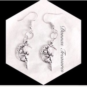 💐Fairy on the Moon Earrings